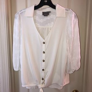 Anthropologie Tops - Vanessa Virginia by Anthro Lenora Tied Blouse | S